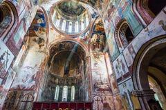 Inside view on Gelati Monastery of the Virgin, Kutaisi, Georgia royalty free stock photo
