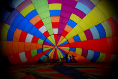 View inside a large balloon Stock Photo