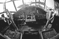 View inside old airplane Stock Image