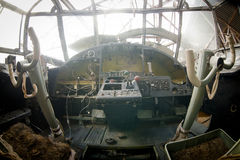 View inside old airplane Royalty Free Stock Images