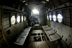 View inside old airplane Royalty Free Stock Photo