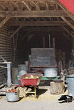 View inside an Old Storage Barn Royalty Free Stock Photos
