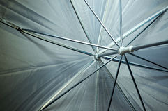 View inside photography umbrella Royalty Free Stock Photography