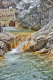 View inside saklikent canyon turkey. Royalty Free Stock Images
