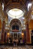 Inside Mdina Cathedral, Malta. Royalty Free Stock Photography