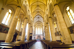 View inside Vienna church Royalty Free Stock Image
