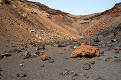 View of the inside of a Volcano Stock Images