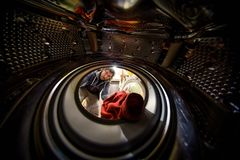 View from the inside of washing machine Royalty Free Stock Photography