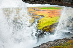 View inside the waterfall Stock Photography