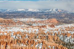 A View from Inspiration Point, Bryce Canyon. Looking out over Bryce Canyon in Utah, from Inspiration Point royalty free stock photos