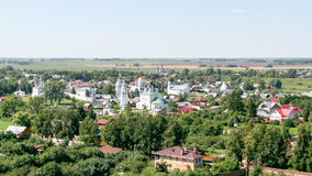 View of the Intercession Monastery from the bell tower, Russia, Suzdal royalty free stock images