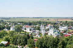 View of the Intercession Monastery from the bell tower, Russia, Suzdal stock image