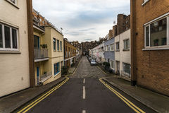 View on an interesting  street, characteristic buildings English Stock Photo