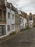 View on an interesting  street, characteristic buildings English Stock Photos
