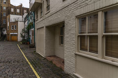 View on an interesting  street, characteristic buildings English Royalty Free Stock Photo