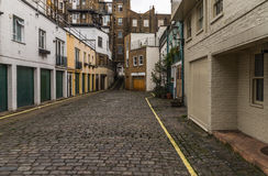 View on an interesting  street, characteristic buildings English Stock Image