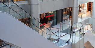 View on an interior centre shopping Stock Image