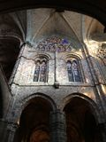 View of the interior of the gothic Cathedral of Avila in Spain. Photo taken in 2017 Stock Photos