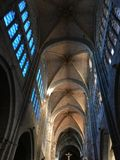 View of the interior of the gothic Cathedral of Avila in Spain. Photo taken in 2017 Stock Images