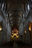 Interior of the Cathedral Notre-Dame, Lausanne, Switzerland royalty free stock photography