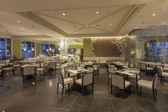 View Interior of a hotel restaurant at Miracle Grand Convention Stock Photography