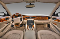 View of the interior of a modern automobile Stock Photography