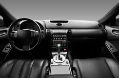 View of the interior of a modern automobile. Showing the dashboard Royalty Free Stock Images