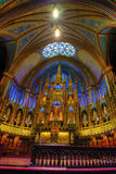 A view of the interior of Notre Dame Cathedral in Montreal Stock Photo