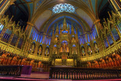 A view of the interior of Notre Dame in Montreal, Canada Stock Images