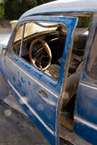 View on the interior of an old car Royalty Free Stock Photos