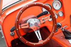 View of the interior of an old vintage car Royalty Free Stock Images