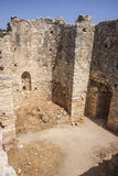 View of Interior rooms  ar public baths at Aptera, Crete Stock Photos