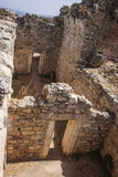 View of Interior rooms  ar public baths at Aptera, Crete Royalty Free Stock Images