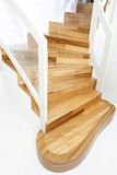 View of interior wooden stairs Royalty Free Stock Photo