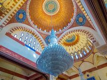 Interiors of the Mohammad Al-Amin Mosque, Beirut, Lebanon. View of the interiors of the Mohammad Al-Amin Mosque Royalty Free Stock Images