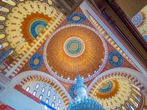 Interiors of the Mohammad Al-Amin Mosque, Beirut, Lebanon. View of the interiors of the Mohammad Al-Amin Mosque Stock Image