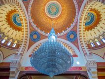 Interiors of the Mohammad Al-Amin Mosque, Beirut, Lebanon. View of the interiors of the Mohammad Al-Amin Mosque Royalty Free Stock Image