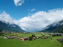 View of Interlaken from Wilderswil Stock Photo