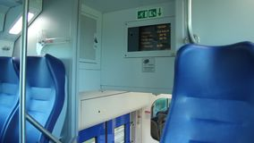 View of the Internal display of the Train stock footage