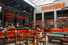 View of internal Hooters restaurant in Pattaya Stock Image