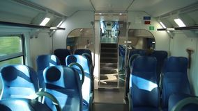 View of the Internal Vivalto Passenger Train. From a Passenger Train to Florence stock video