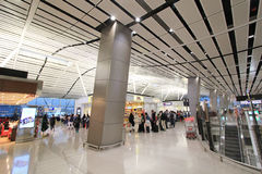 View of International airport in Hong Kong Royalty Free Stock Photography