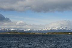View of the international airport of Ushuaia Stock Image