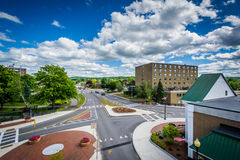View of the intersection of Main Street and Beacon Street in Lac Royalty Free Stock Photo