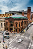 View of an intersection from a parking garage in Baltimore, Mary Stock Photography