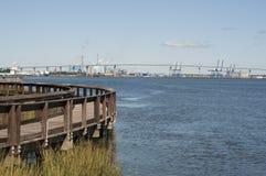 View of Interstate 526 Bridge Royalty Free Stock Photos