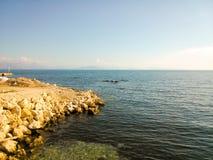 View of the Ionian sea. In Corfu island Greece Stock Photo