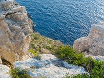 View of the Ionian Sea from the top of the hill.  Royalty Free Stock Photos