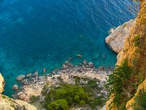 View of the Ionian Sea from the top of the hill.  Stock Image
