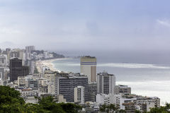 View of Ipanema Beach from Alto Lebon Stock Image